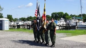 Wounded Warriors Day on the Bay Color Guard